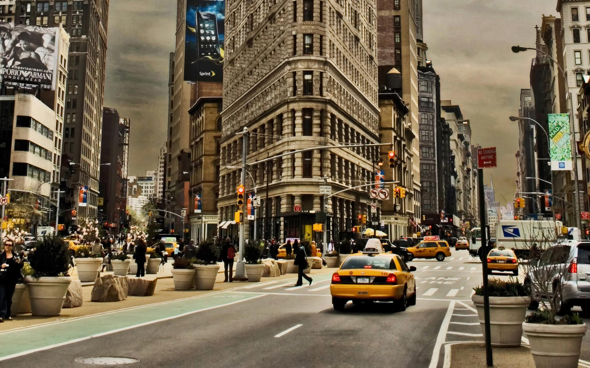 Ny Street Cabs Hd Wallpaper Revista Gente Internacional